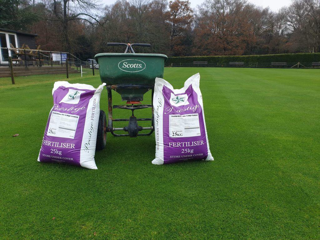 fertilising a sports ground