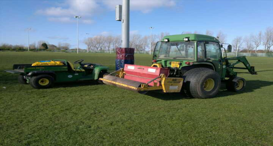 overseeding a football pitch