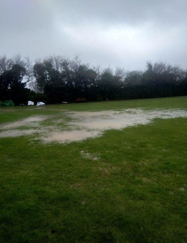 rugby pitch water logged