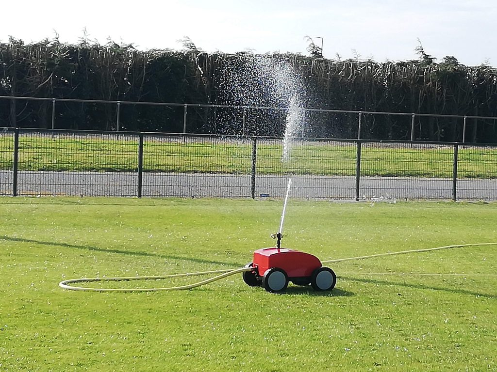 watering of rugby pitch