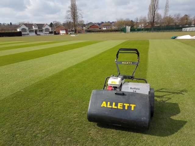 mowing sports pitch