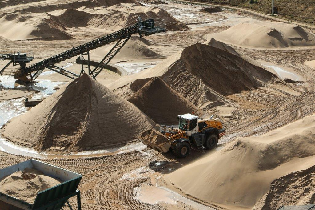 early stages of sports sand production
