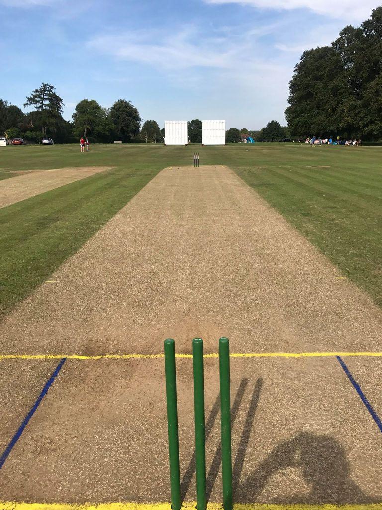 cricket pitch prepared